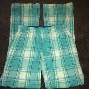 Blue Plaid Pajama Pants